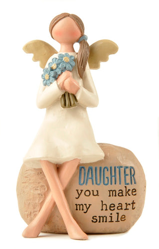 Daughter Angel Ornament (with flowers)