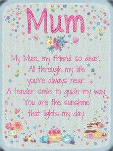 Sentiment Mum Metal Sign - Perfect for Mother's Day