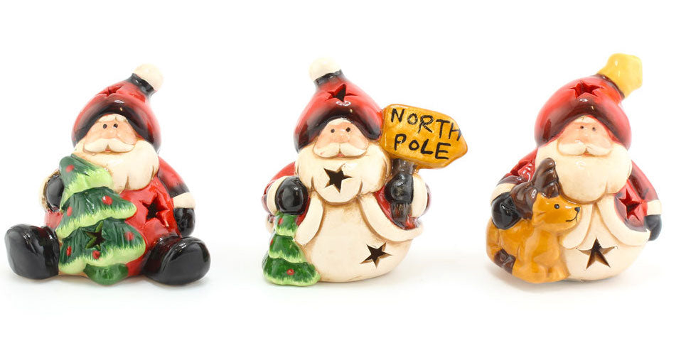 Light Up 'Jolly Santa' Christmas LED Ornaments