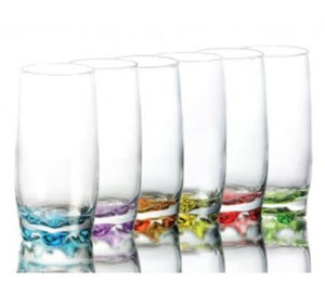 Clear Glass with Coloured Bottom including FREE princess silhouette decal