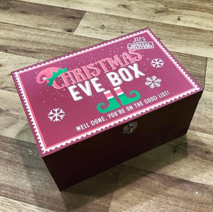 Wooden 'You're on the Good List' Christmas Eve Box