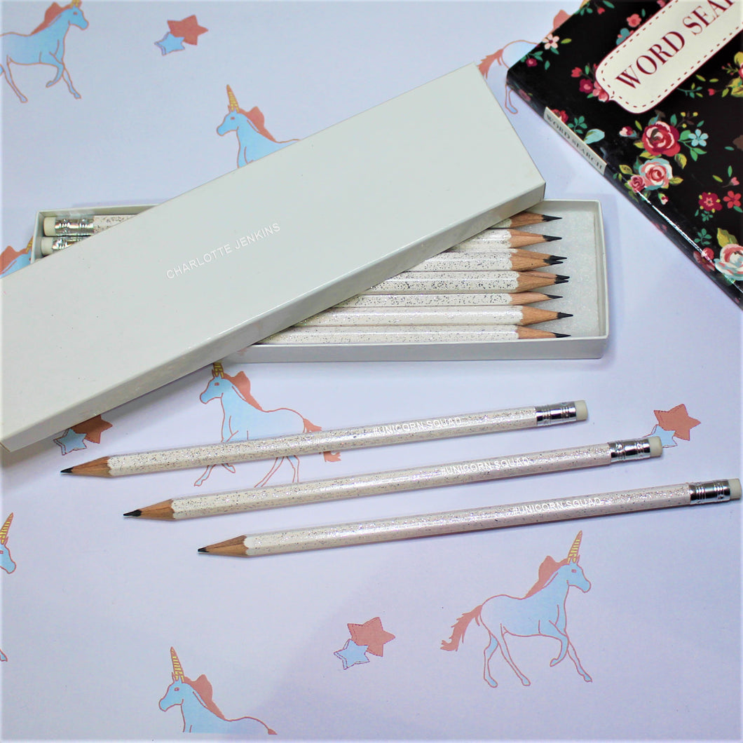 Personalised #UNICORNSQUAD Pencil Set
