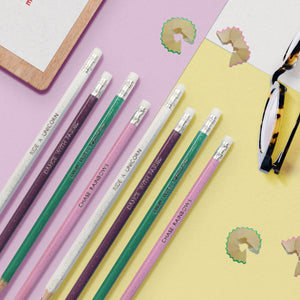 Personalised Rainbow Notebook & Eight Pencils in Box (Fairy, Mermaids and Unicorns)