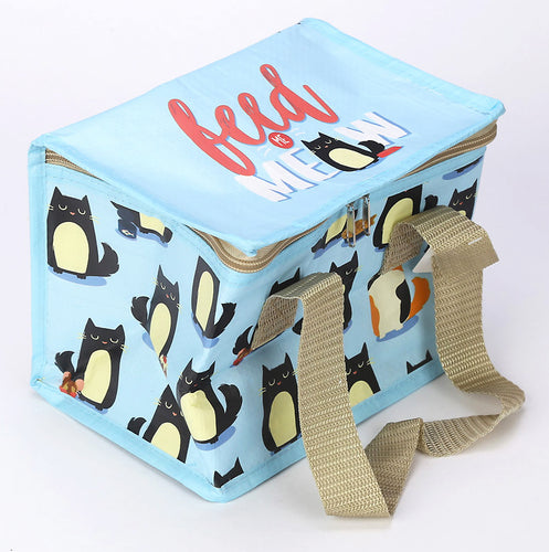 Feline Fine 'Feed Me Meow' Insulated Lunch Bag