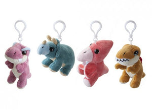 Dinosaur Soft Toy Keyrings / Backpack Buddies - Choice of Four Available