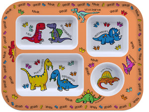 Little Stars Dinosaur Food Tray