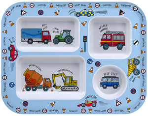 Little Stars Vehicle Food Tray