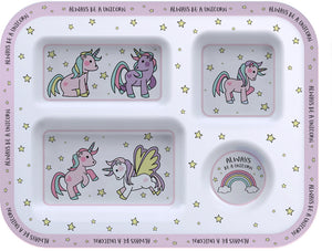 Little Stars Unicorn Food Tray