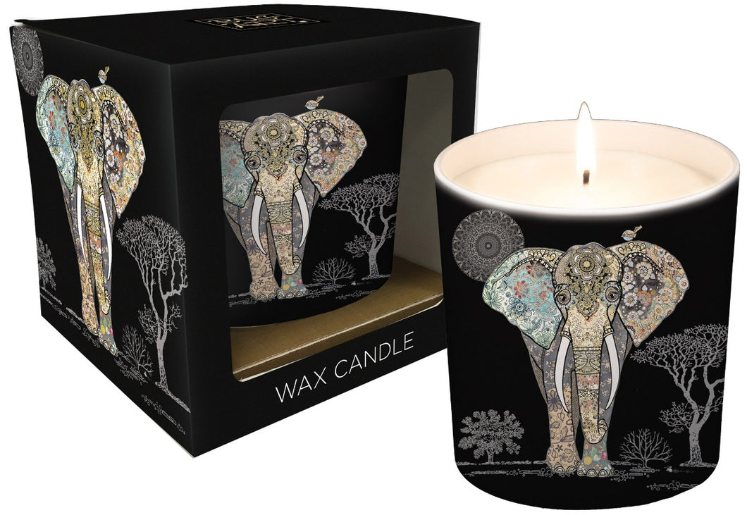 Patterned Elephant Ceramic Candle Pot