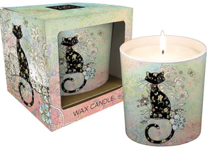 Patterned Cat Ceramic Candle Pot
