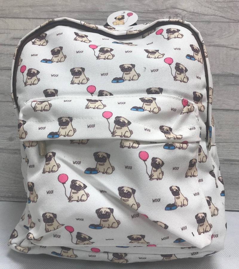 Pugs Printed Backpack