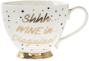 Shhh...Wine in Disguise Footed Mug