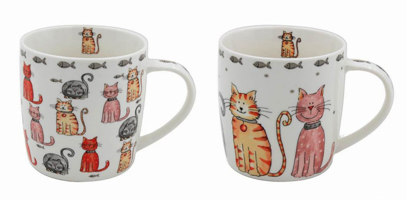 Cute Cats Fine China Mug - 2 Designs Available