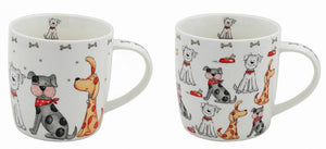 Cute Dogs Fine China Mug - 2 Designs Available