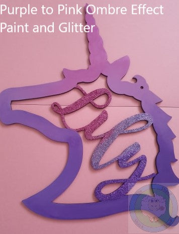 Personalised and Customisable Wooden Unicorn Head Name Decoration