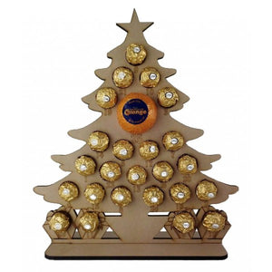 Christmas Tree Chocolate/Sweet Advent Calendar (Chocs/Sweets not inc.)