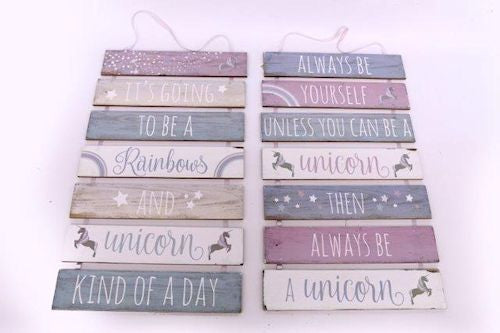 Seven Tier Wooden Unicorn Plaque - Choice of two designs