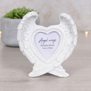 Glitter Angel Wing Photo Frame