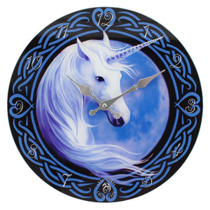 'Celtic Unicorn' Glass Wall Clock - An Anne Stokes Design