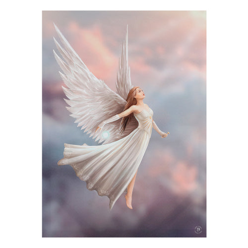 'Ascendance' Angel Canvas Plaque by Anne Stokes - 19 x25 cm or 50 x 70cm