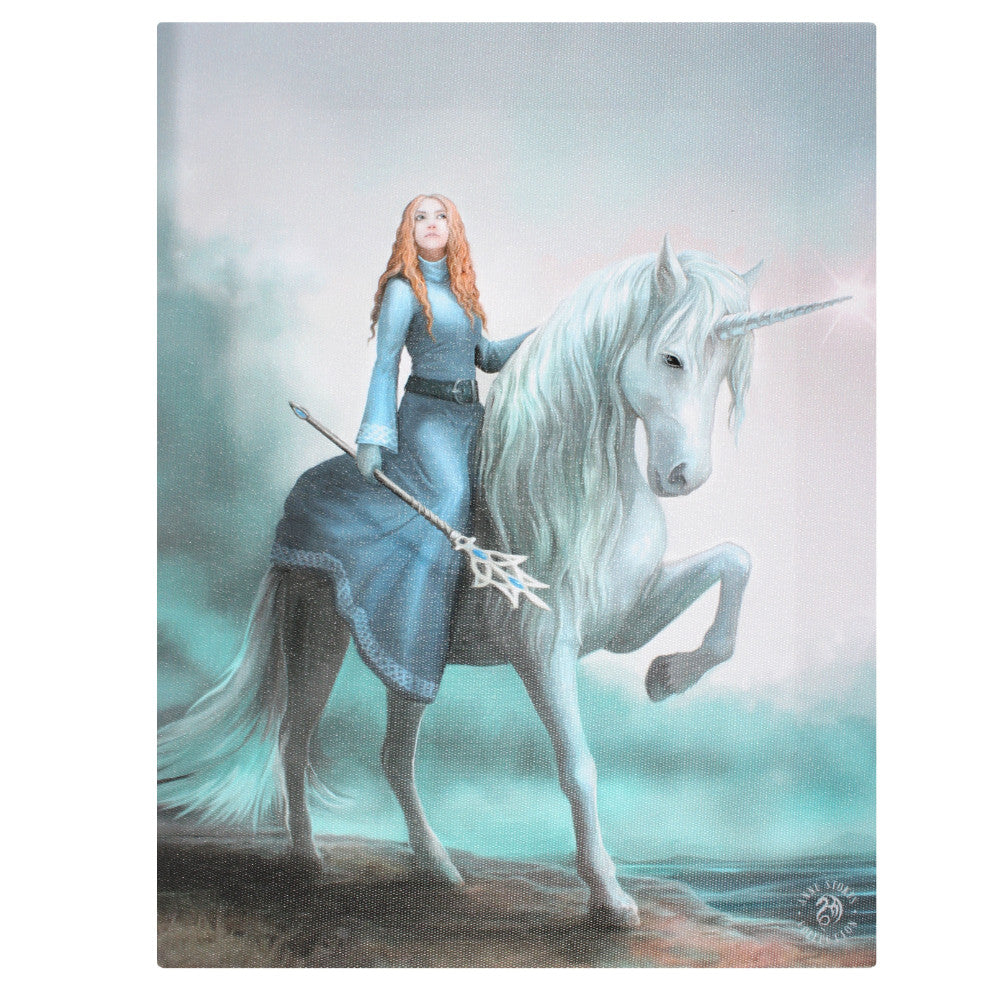 'Journey Starts' Unicorn Canvas Plaque by Anne Stokes - 19 x 25cm