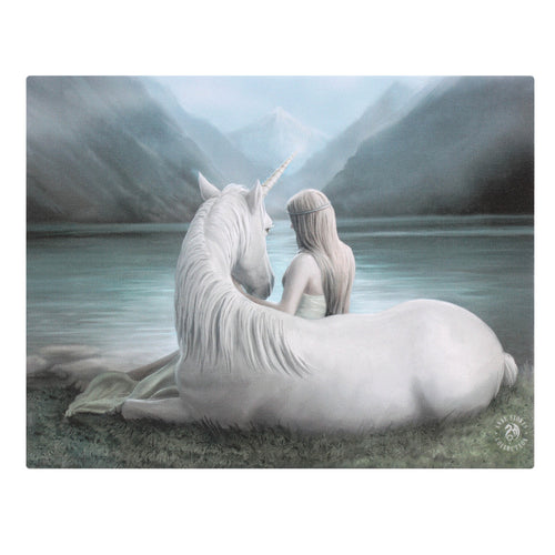 'Beyond Words' Canvas Plaque by Anne Stokes - 25 x 19cm