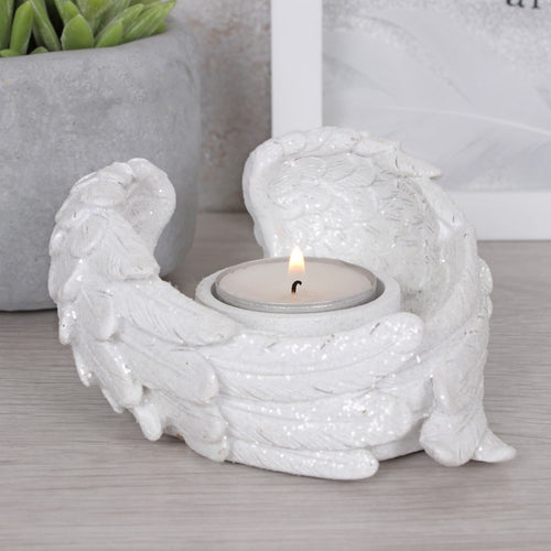 Glitter Angel Wing Tealight/Votive Candle Holder