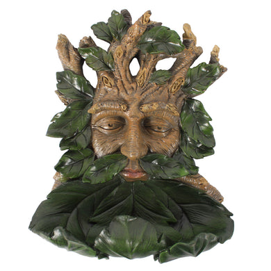 Large Green Man Wall Mounted Bird Feeder