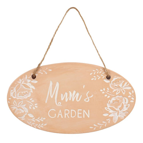 Terracotta Plaque - 'Mum's Garden' - Suitable for Any Occasion