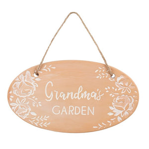 Terracotta Plaque - 'Grandma's Garden' - Suitable for Any Occasion