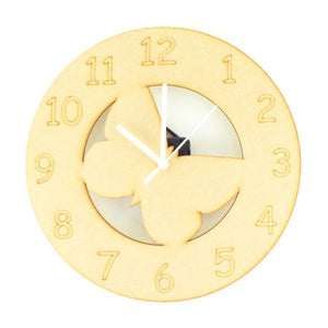 Customisable Wooden Butterfly Clock