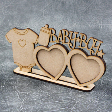 Personalised and Customisable 'Baby' Wooden Photo Frame