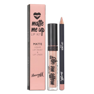 Barry M (Cruelty Free & Vegan) Matte Me Up Lip Kit(s) - Doll & Hun Available