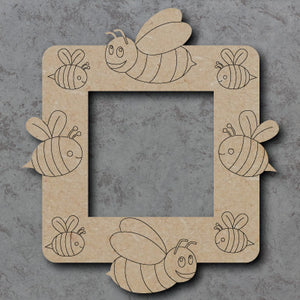 Personalised Customisable Wooden Bee Light Switch Surround
