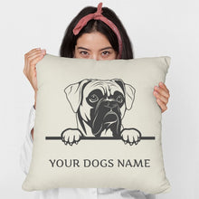 Personalised or Non-Personalised Boxer Cushion - Two Designs