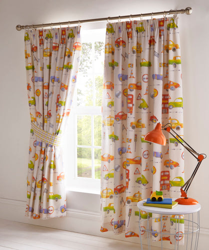 Cars Pencil Pleat Curtains