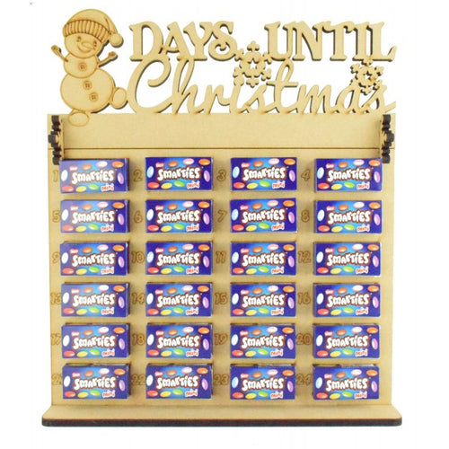 'Days Until Christmas' Snowman Topper Chocolate/Sweet Advent Calendar (Chocs/Sweets not inc.)