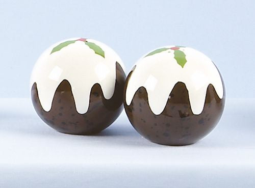Christmas Pudding Salt and Pepper Shaker Set