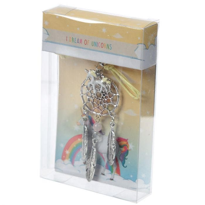 Enchanted Rainbow Unicorn Metal Dreamcatcher
