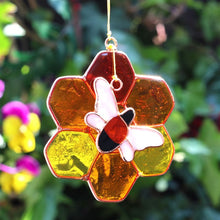 Bee and Honeycomb Suncatcher