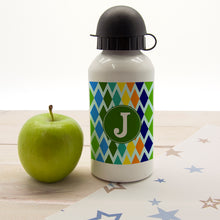 Personalised (Initial) Stain Glass Window DesignChildrens Water Bottle