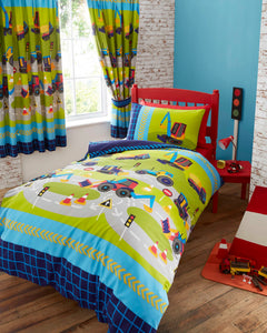 Digger Construction Duvet Cover Set
