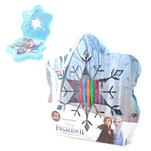 Frozen 2 Snowflake 75 Piece Colouring/Stationery Case