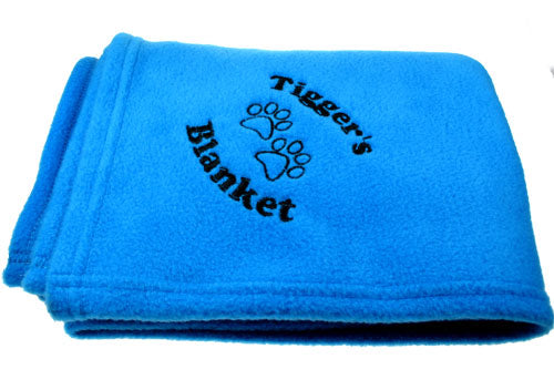 Personalised Pet Blanket - Available in Blue, Pink and Black