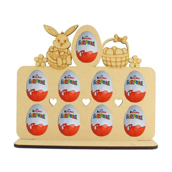 Easter Themed (Easter Bunny and Basket) Kinder Egg Holder - Perfect for Easter...or Just Because!!! (Chocs not inc.)
