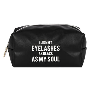 As Black As My Soul Make Up Bag