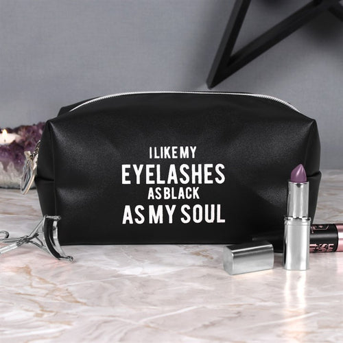 'As Black As My Soul' Make Up Bag