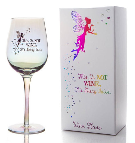 Rainbow Lustre Effect Fairy Wine Glass