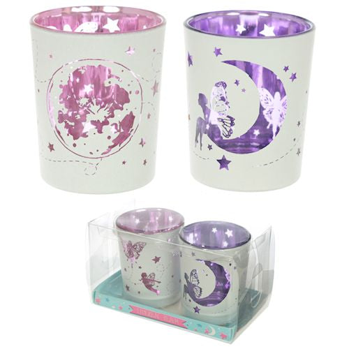 Set of 2 Fairy Moonlight Tealight Holders