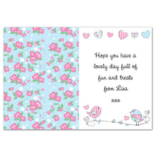 Any Occasion Personalised Floral Bird Card (FREE SHIPPING)